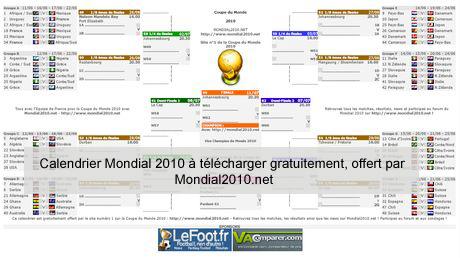 Calendrier de la coupe du monde 2010 t l charger - Calendrier eliminatoire coupe du monde ...