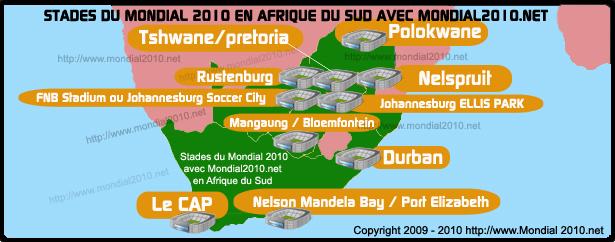 Stades la coupe du monde de football en afrique du sud - Coupe du monde foot afrique du sud ...
